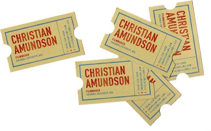 Cool Business Cards for a Filmmaker