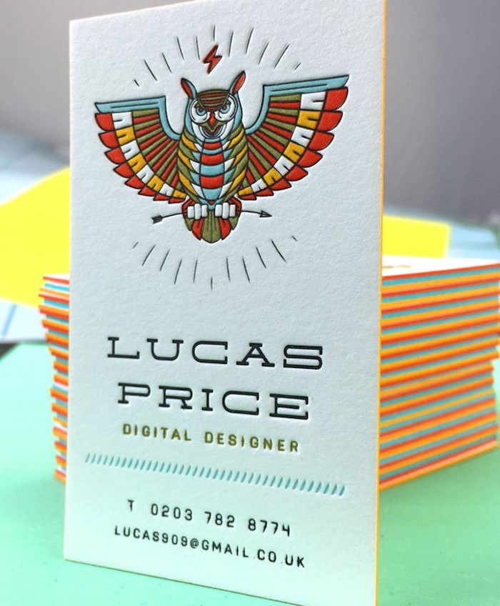 Lucas Price Letterpress Business Cards