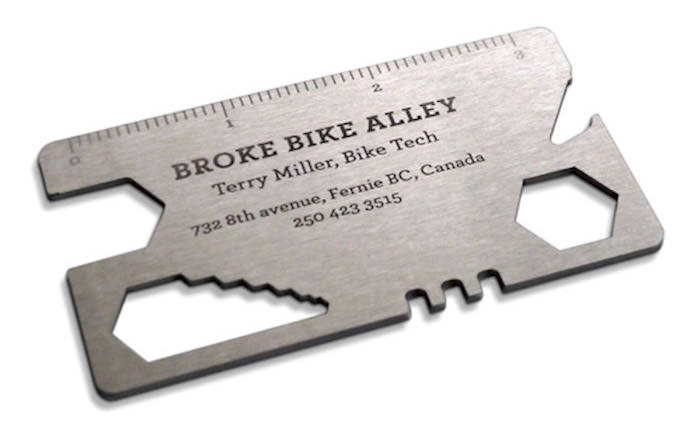 Metal Bike Tool Business Card