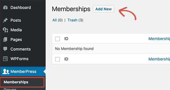 Add membership level