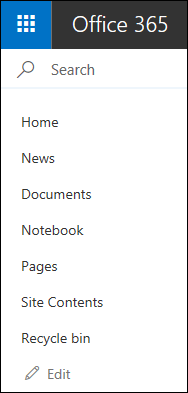 SharePoint Left Nav